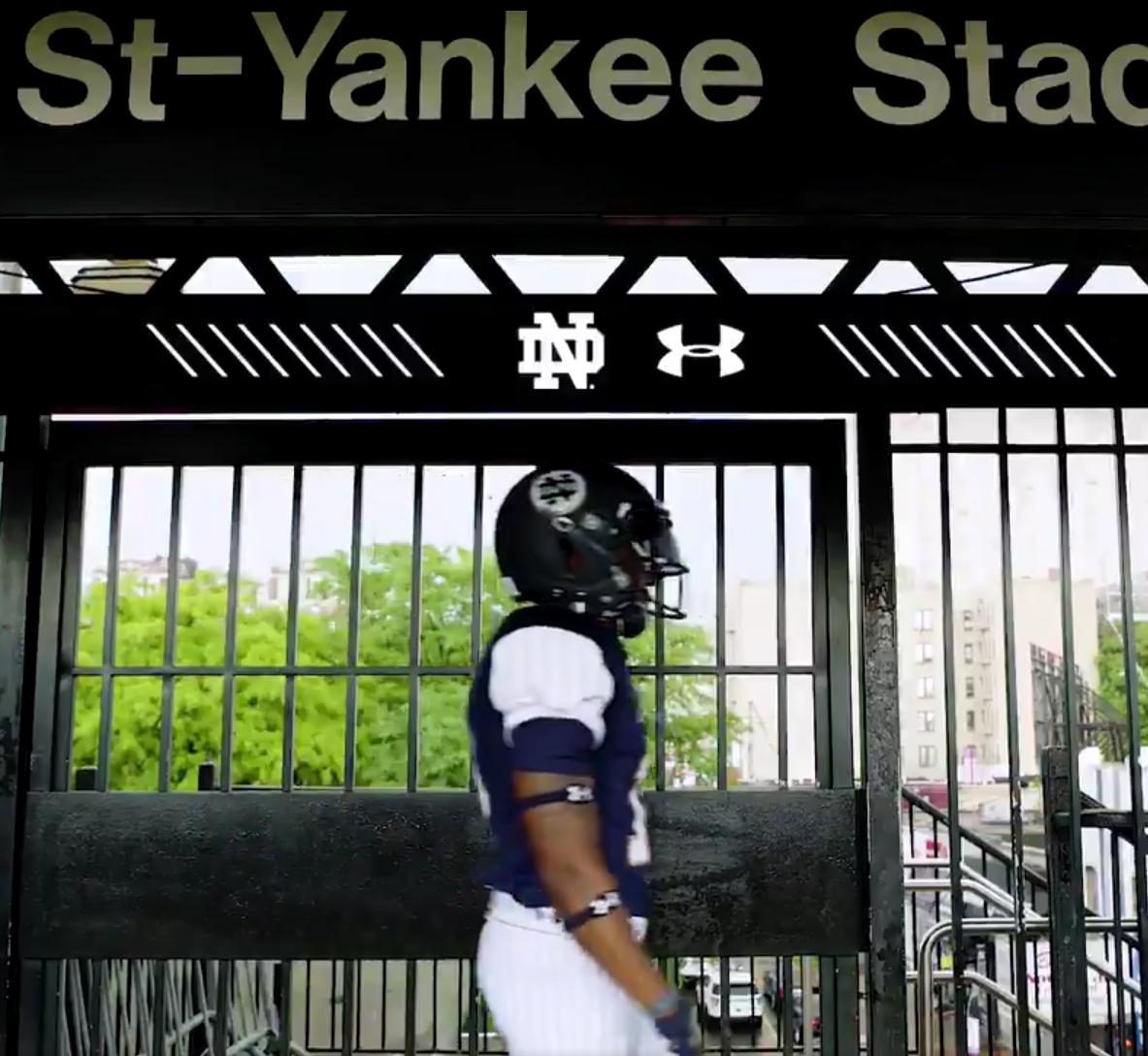Notre Dame Releases Yankee Inspired Uniforms Causing Internet To Douse Itself With Gasoline Payne S Valley Golf Club